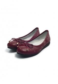 Балетки Elegance для девочек бордовые