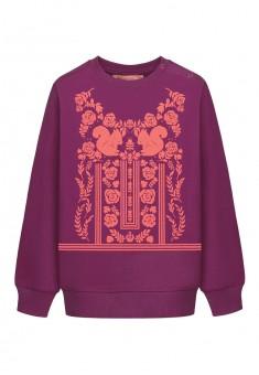 Трикотажный пуловер для девочки цвет бордовый