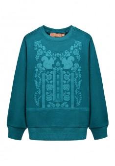 Трикотажный пуловер для девочки цвет темная лазурь