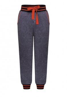 Трикотажные брюки для мальчика цвет темносиний меланж