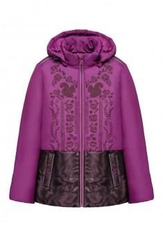Куртка утепленная для девочки цвет бордовый