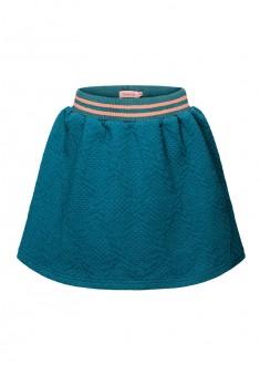 Трикотажная юбка для девочки цвет темная лазурь
