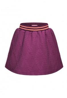 Трикотажная юбка для девочки цвет бордовый