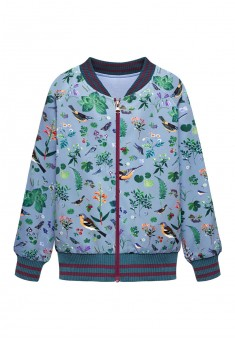 Girls printed jersey bomber jacket