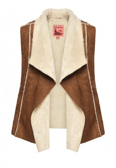 Girls faux shearling vest