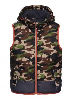 Куртка без рукавов жилет утепленная для мальчика цвет мультицвет