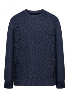 Mens jacquard knit jumper