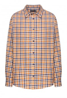 Koszula w kratkę męska kolor orzechowy