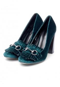 Туфли женские Violet изумрудные