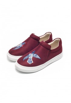 Girls Fairytale slipons burgundy