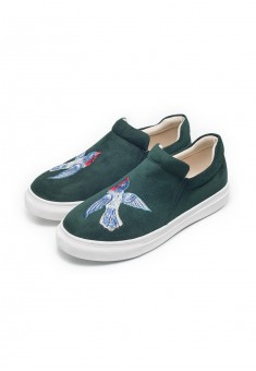 Girls Fairytale slipons emerald