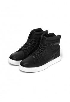 Boys high top sneakers black