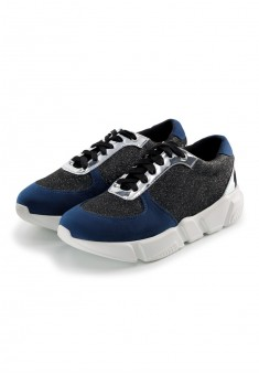 Girls Street Sneakers black and blue