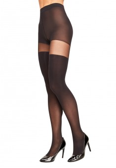 Tights with imitation stocking SD500 50 den black