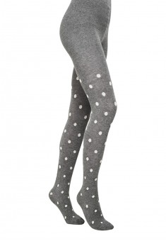 Childrens polkadot tights SD137 100 den gray