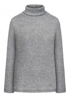137W2901 Trikotāžas džemperis sievietei gaiši pelēkā krāsā ar lureksu
