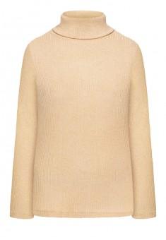 137W2901 Trikotāžas džemperis sievietei bēšā krāsā ar lureksu