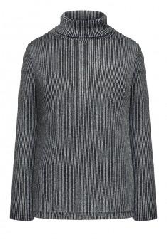 137W2901 Trikotāžas džemperis sievietei melnā krāsā ar lureksu
