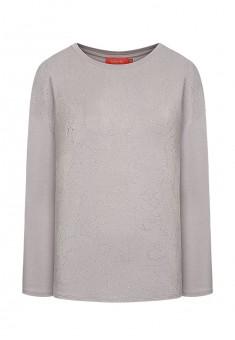 Sequinembellished jersey jumper light grey