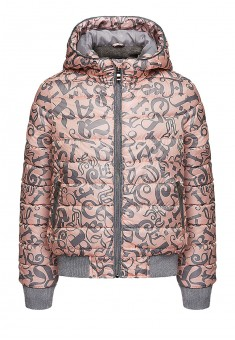 Girls insulated print jacket light pink