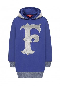 Girls  lengthened hoodie bright blue