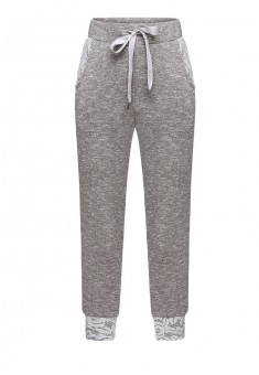 Girls lurex jersey trousers grey melange
