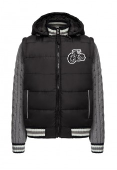 Boys insulated transformer jacket black