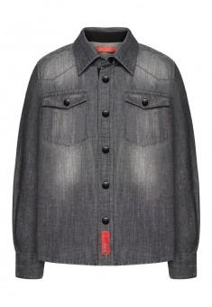 137B2601 Džinsa krekls zēnam pelēkā krāsā