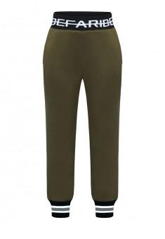 Трикотажные брюки для мальчика цвет хаки