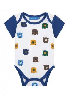 Baby Boy jersey bodysuit milky