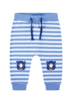 Baby Boy striped jersey trousers with a print motif blue