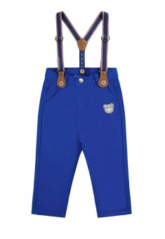 Baby Boy embroidered suspender pants dark blue