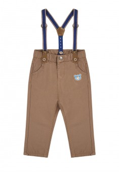 Baby Boy embroidered suspender pants brown