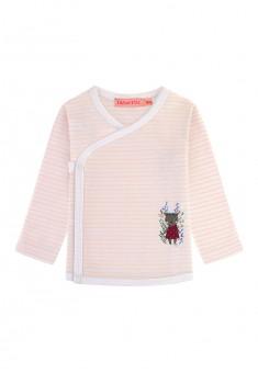 Трикотажная футболкакимоно для девочки цвет яркорозовый