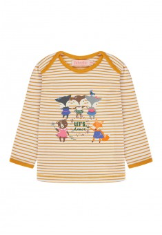 Baby Girl striped print Tshirt amber