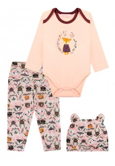 Baby Girl jersey 3piece set light pink
