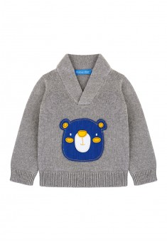 Bay Boy applique knit jumper grey melange