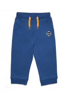 Трикотажные брюки с вышивкой для мальчика цвет темносиний