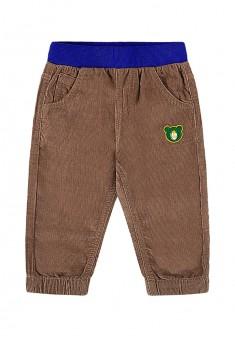 Spodnie sztruksowe z haftem dla chłopca kolor brązowy
