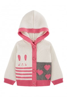 Baby Girl knit motif hooded cardigan