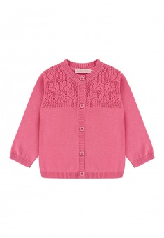 Baby Girl openwork knit cardigan bright pink