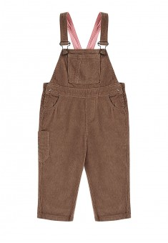 Girls overalls with velvet bib and straps amber