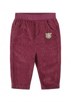 Baby Girl embroidered corduroy trousers burgundy