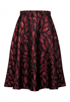 Jacquardpatterned skirt scarlet