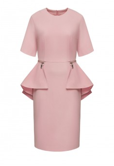Removable peplum dress dusty pink