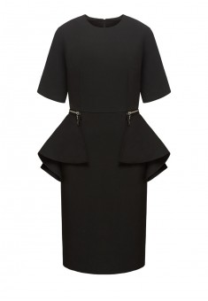 Removable peplum dress black