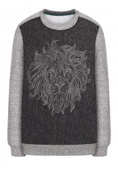 Boys printed jersey sweatshirt grey melange
