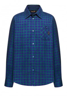 Boys flannel checked shirt blue green