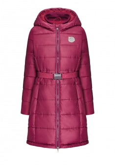 Girls insulated quilted coat raspberry