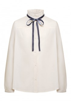 Girls bow blouse white